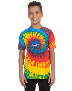 Rasta Blue Youth 5.4 oz., 100% Cotton Tie-Dyed T-Shirt