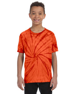 Spider Orange Youth 5.4 oz., 100% Cotton Tie-Dyed T-Shirt
