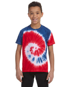 Spiral Royal & Red Youth 5.4 oz., 100% Cotton Tie-Dyed T-Shirt