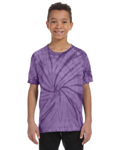 Spider Purple Youth 5.4 oz., 100% Cotton Tie-Dyed T-Shirt
