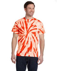Twist Orange 5.4 oz., 100% Cotton Twist Tie-Dyed T-Shirt