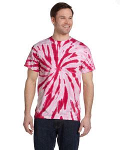 Twist Pink 5.4 oz., 100% Cotton Twist Tie-Dyed T-Shirt