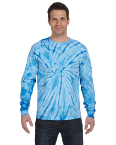 Spider Baby Blue 5.4 oz., 100% Cotton Long-Sleeve Tie-Dyed T-Shirt
