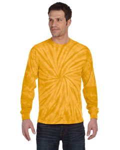 Spider Gold 5.4 oz., 100% Cotton Long-Sleeve Tie-Dyed T-Shirt