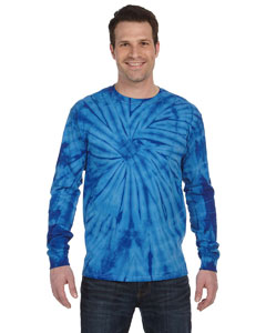 Spider Royal 5.4 oz., 100% Cotton Long-Sleeve Tie-Dyed T-Shirt