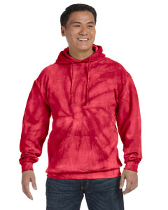 Spider Red 8.5 oz. Tie-Dyed Pullover Hood