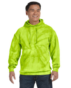Spider Lime 8.5 oz. Tie-Dyed Pullover Hood