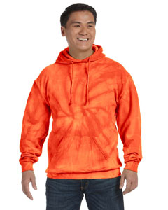 Spider Orange 8.5 oz. Tie-Dyed Pullover Hood
