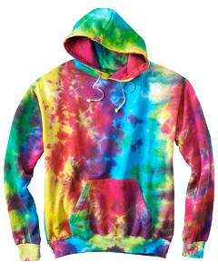 Multi Rainbow 8.5 oz. Tie-Dyed Pullover Hood