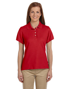 Red Women's Performance Plus Piqué Polo