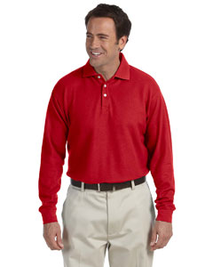 Red Long-Sleeve Performance Plus Piqué Polo