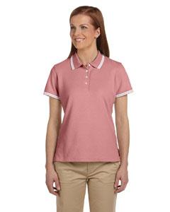 Fresh Pink/white Women's Tipped Performance Plus Piqué Polo
