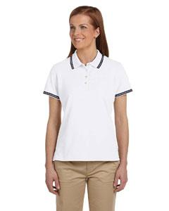 White/ink Women's Tipped Performance Plus Piqué Polo