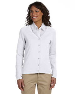White Women's Six-Button Cardigan