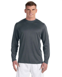 Black Heather Vapor® 4 oz. Long-Sleeve T-Shirt