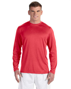 Scarlet Heather Vapor® 4 oz. Long-Sleeve T-Shirt