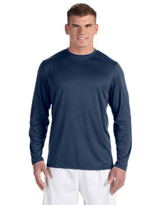 Navy Heather Vapor® 4 oz. Long-Sleeve T-Shirt