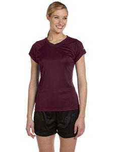 Maroon Women's 4 oz. Double Dry® Performance T-Shirt