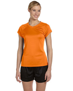 Safety Orange Women's 4 oz. Double Dry® Performance T-Shirt