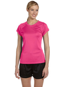 Wow Pink Women's 4 oz. Double Dry® Performance T-Shirt