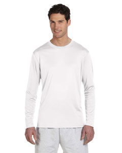 White 4 oz. Double Dry® Performance Long-Sleeve T-Shirt