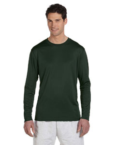 Dark Green 4 oz. Double Dry® Performance Long-Sleeve T-Shirt
