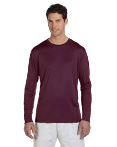 Maroon 4 oz. Double Dry® Performance Long-Sleeve T-Shirt
