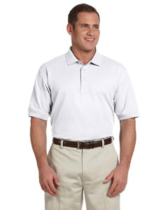 White Men's Pima Piqué Short-Sleeve Polo