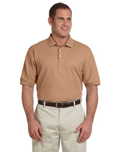 Taupe Men's Pima Piqué Short-Sleeve Polo