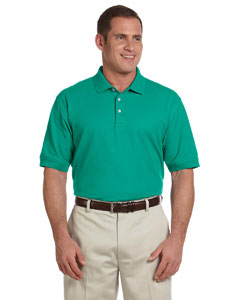 Augusta Green Men's Pima Piqué Short-Sleeve Polo