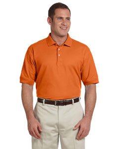 Deep Orange Men's Pima Piqué Short-Sleeve Polo