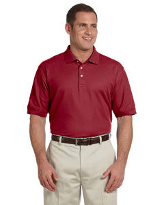 Burgundy Men's Pima Piqué Short-Sleeve Polo