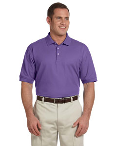 Purple Men's Pima Piqué Short-Sleeve Polo