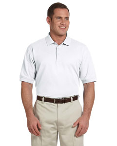 White Tall Pima Piqué Short-Sleeve Polo