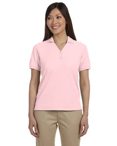 Pink Women's Pima Piqué Short-Sleeve Y-Collar Polo