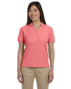 Melon Women's Pima Piqué Short-Sleeve Y-Collar Polo