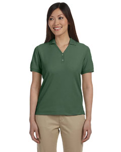 Dill Women's Pima Piqué Short-Sleeve Y-Collar Polo