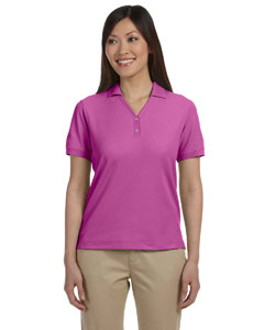 Cerise Women's Pima Piqué Short-Sleeve Y-Collar Polo