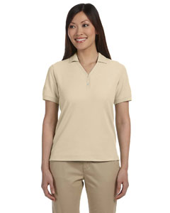Stone Women's Pima Piqué Short-Sleeve Y-Collar Polo