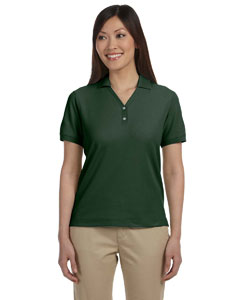 Forest Women's Pima Piqué Short-Sleeve Y-Collar Polo