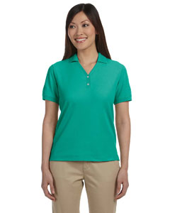 Augusta Green Women's Pima Piqué Short-Sleeve Y-Collar Polo