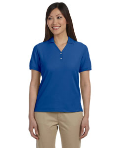 True Royal Women's Pima Piqué Short-Sleeve Y-Collar Polo