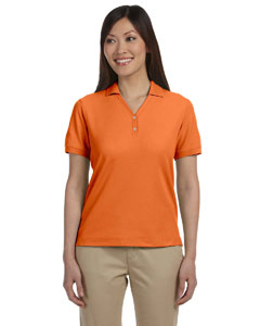 Deep Orange Women's Pima Piqué Short-Sleeve Y-Collar Polo