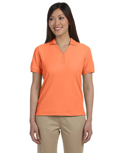 Tangerine Women's Pima Piqué Short-Sleeve Y-Collar Polo