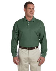 Dill Men's Pima Piqué Long-Sleeve Polo