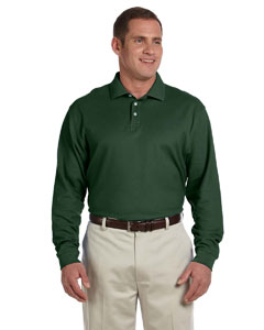 Forest Men's Pima Piqué Long-Sleeve Polo