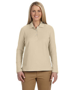 Stone Women's Pima Piqué Long-Sleeve Polo