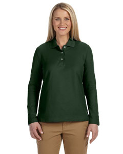 Forest Women's Pima Piqué Long-Sleeve Polo