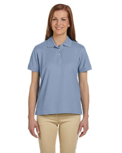 Slate Blue Women's Pima Piqué Short-Sleeve Polo