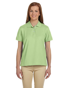 Lime Women's Pima Piqué Short-Sleeve Polo